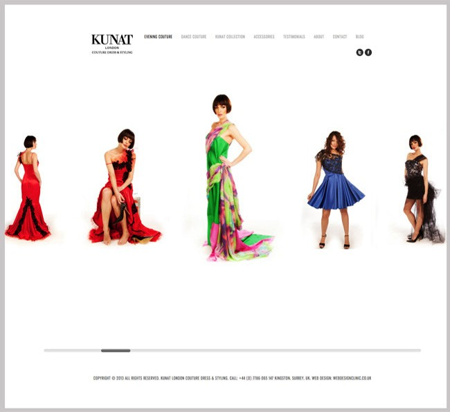 Kunat London Fashion Designer by Web Design Clinic London Surrey
